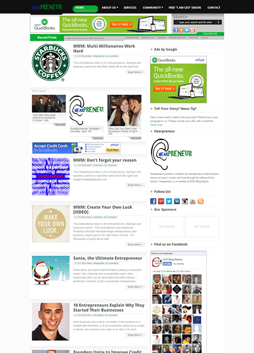 Hearpreneur Site
